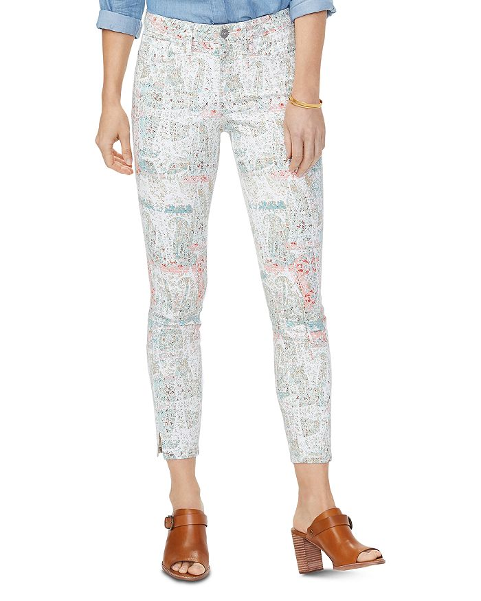 NYDJ - Ami Cropped Skinny Jeans in Paisley Impression Canyon Clay