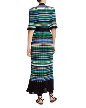 Maje - Ramacca Striped Wrap Maxi Dress