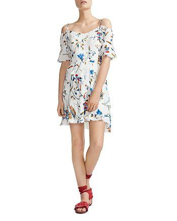 Maje - Rhina Floral Off-the-Shoulder Dress