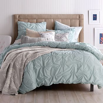 Peri Home - Check Smocked Comforter Set, Full/Queen