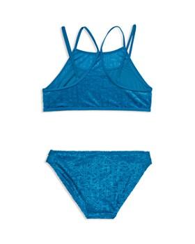 Gossip Girl - Girls' Textured Two-Piece Strappy Swimsuit - Big Kid