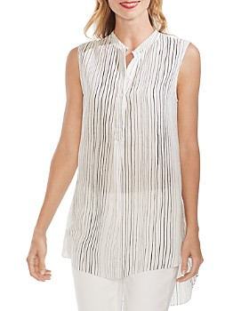 VINCE CAMUTO - Sleeveless Striped Tunic