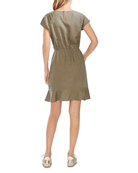VINCE CAMUTO - Cap-Sleeve Linen Dress
