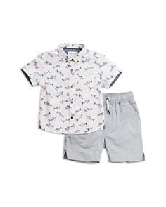 Sovereign Code - Boys' Reef + Gateway Button-Down Shirt & Shorts Set - Baby