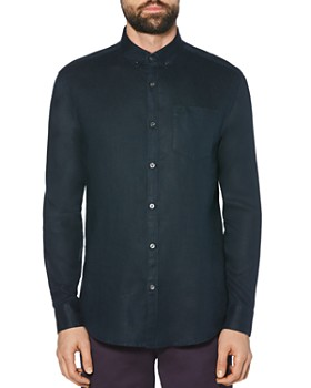 Original Penguin - Linen Regular Fit Button-Down Shirt