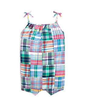 Ralph Lauren - Girls' Patchwork Madras Shortall - Baby