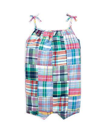 Ralph Lauren - Girls' Patchwork Madras Shortall - Baby