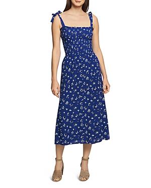 1.state Dresses SLEEVELESS FLORAL SMOCKED MIDI DRESS