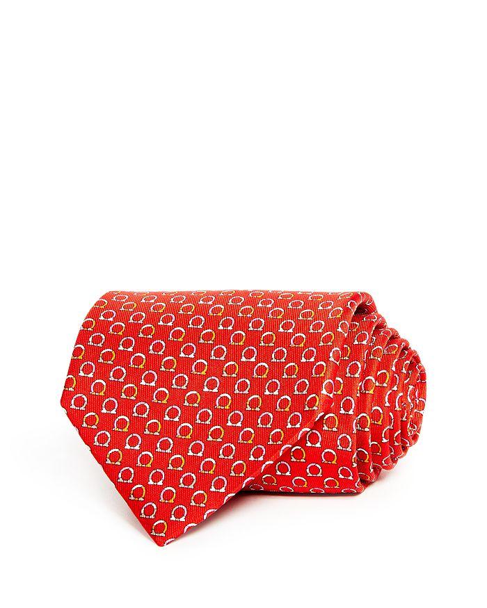 Salvatore Ferragamo Good Gancini Classic Silk Tie In Red