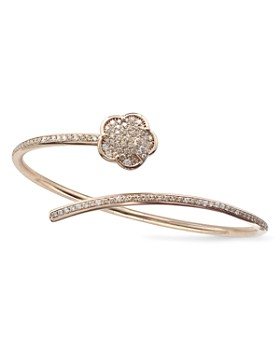 Pasquale Bruni - 18K Rose Gold Joli Champagne & White Diamond Bangle Bracelet