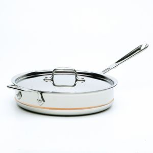 All Clad Copper Core 3 Quart Covered Saute Pan
