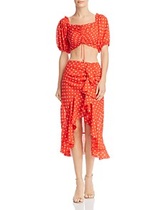 Finders Keepers - Rosie Polka-Dot Cropped Top & Rosie Polka-Dot Ruffle Skirt