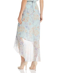 Alice and Olivia - Caily Ruffled Floral High/Low Skirt