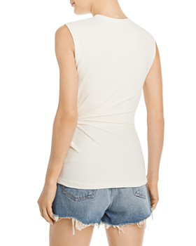 alexanderwang.t - Twisted Crepe Sleeveless Top