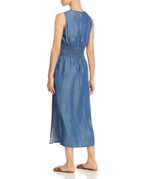 Velvet Heart - Sleeveless Chambray Maxi Dress