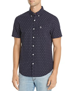 Original Penguin - Short-Sleeve Embroidered Star Regular Fit Button-Down Shirt - 100% Exclusive