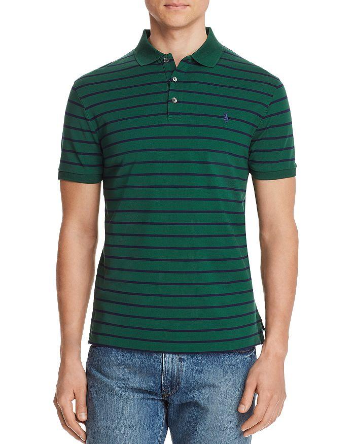 0a97624da Polo Ralph Lauren Striped Mesh Custom Slim Fit Polo Shirt ...
