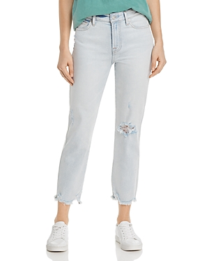 7 For All Mankind Jeans EDIE CROP STRAIGHT JEANS IN LUXE VINTAGE CLOUD