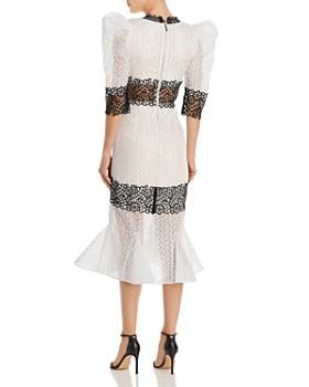 BRONX AND BANCO - Elizabeth Contrast Lace Midi Dress