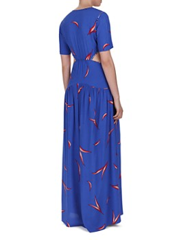 ba&sh - Tiana Cutout Leaf Print Maxi Dress