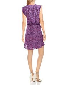 VINCE CAMUTO - Leaf-Print Flutter-Sleeve Dress