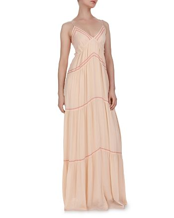 ba&sh - Nadja Tie-Back Tiered Maxi Dress