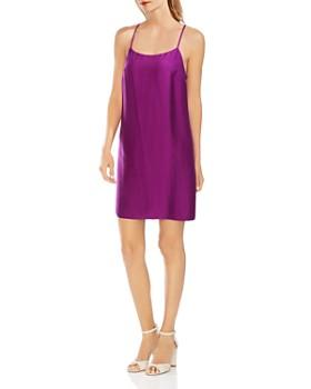 VINCE CAMUTO - Textured-Satin Slip Dress