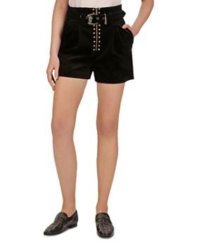 2cd3401e5f1 The Kooples - Belted Velvet Shorts ...