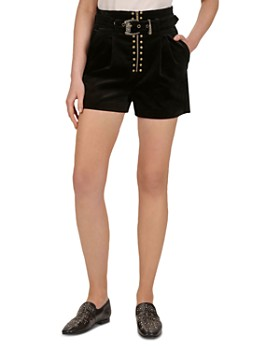 4b150830a3 The Kooples - Belted Velvet Shorts ...