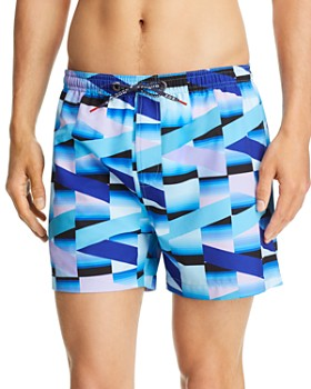 HOMOCO - x Ed Granger Geometric-Print Swim Trunks