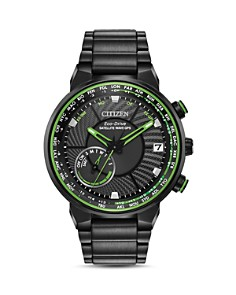 Citizen - Stainless Steel Satellite Wave World Time GPS Watch, 44mm