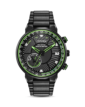 Citizen Stainless Steel Satellite Wave World Time Gps Watch, 44mm