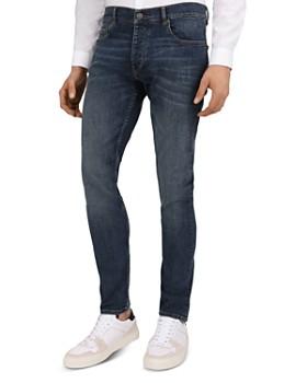 The Kooples - Destroyed Denim Slim Fit Jeans in Vintage Blue