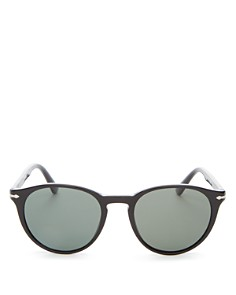 Persol - Men's Polarized Round Sunglasses, 52mm