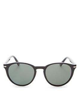Persol - Men's Polarized Round Sunglasses, 52mm