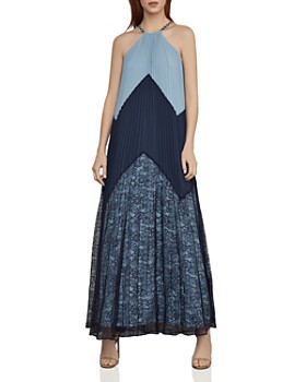 b44c688d11b BCBGMAXAZRIA - Color-Block Pleated Maxi Dress ...