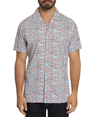 Robert Graham Marda Short-Sleeve Wavy Striped Classic Fit Shirt-Men