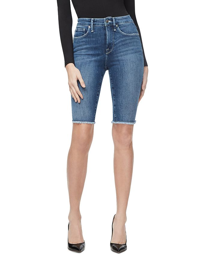Good American - The Bermuda Denim Shorts in Blue179