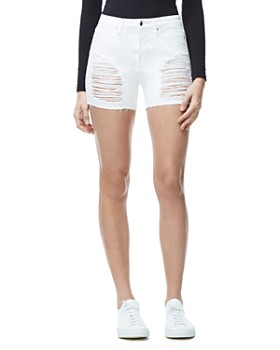 e4093ee5d0d Good American - The Cutoff Denim Shorts in White004 ...