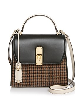 Salvatore Ferragamo - Medium Boxyz Tweed & Leather Satchel