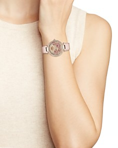COACH - Park Crystal-Embellished Floral Watch, 34mm