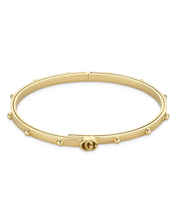 Gucci - 18K Yellow Gold Running G Slim Bangle