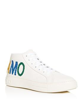 Salvatore Ferragamo - Men's Tarifa Leather Mid-Top Sneakers