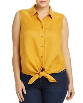 VINCE CAMUTO Plus - Sleeveless Tie-Front Top