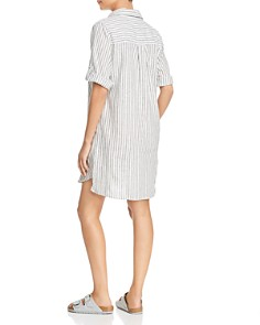 Elan - Ticking Striped Shirt Dress