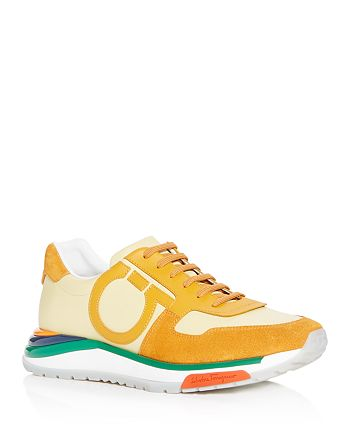 Salvatore Ferragamo - Men's Brooklyn Leather Low-Top Sneakers