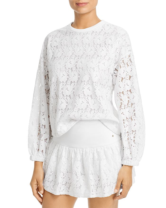 kate spade new york - Lace-Paneled Sweatshirt