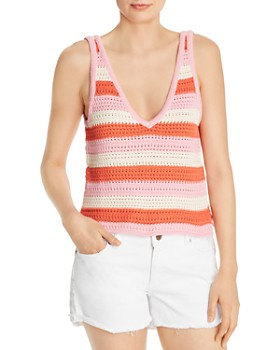 WAYF - Gemma Crochet Striped Tank