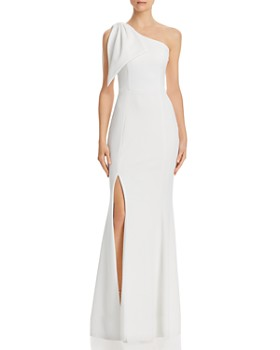 AQUA - One-Shoulder Scuba Crepe Gown - 100% Exclusive