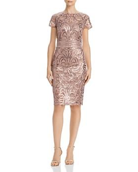 Tadashi Shoji - Sequin-Embroidered Dress
